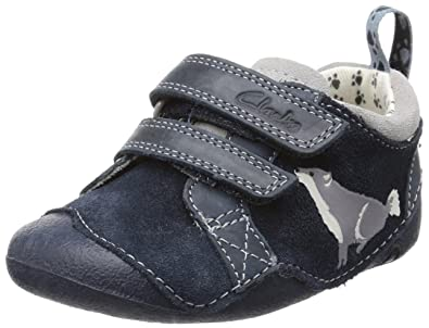 97f2898f9f8b Clarks Childrens Tiny Paw Blue Leather 4 UK  Amazon.co.uk  Shoes   Bags