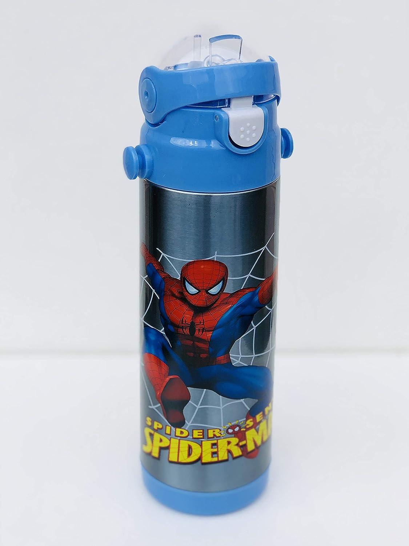 Personnage enfants Bouteille d'eau Spider-Man Flacon de 500ml pour l'école, gourde Bouteille pour sports, camping, cyclisme, rester Hydratée, personnage enfants préféré Tong Lok