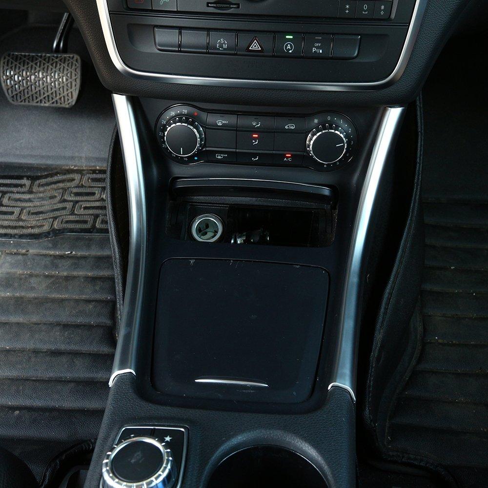2 bandes de décoration de console centrale en ABS (acrylonitrile butadiène styrène) argenté mat - Accessoires pour voiture classe A, CLA, GLA, W117, W176, A180 BEINSTOCK