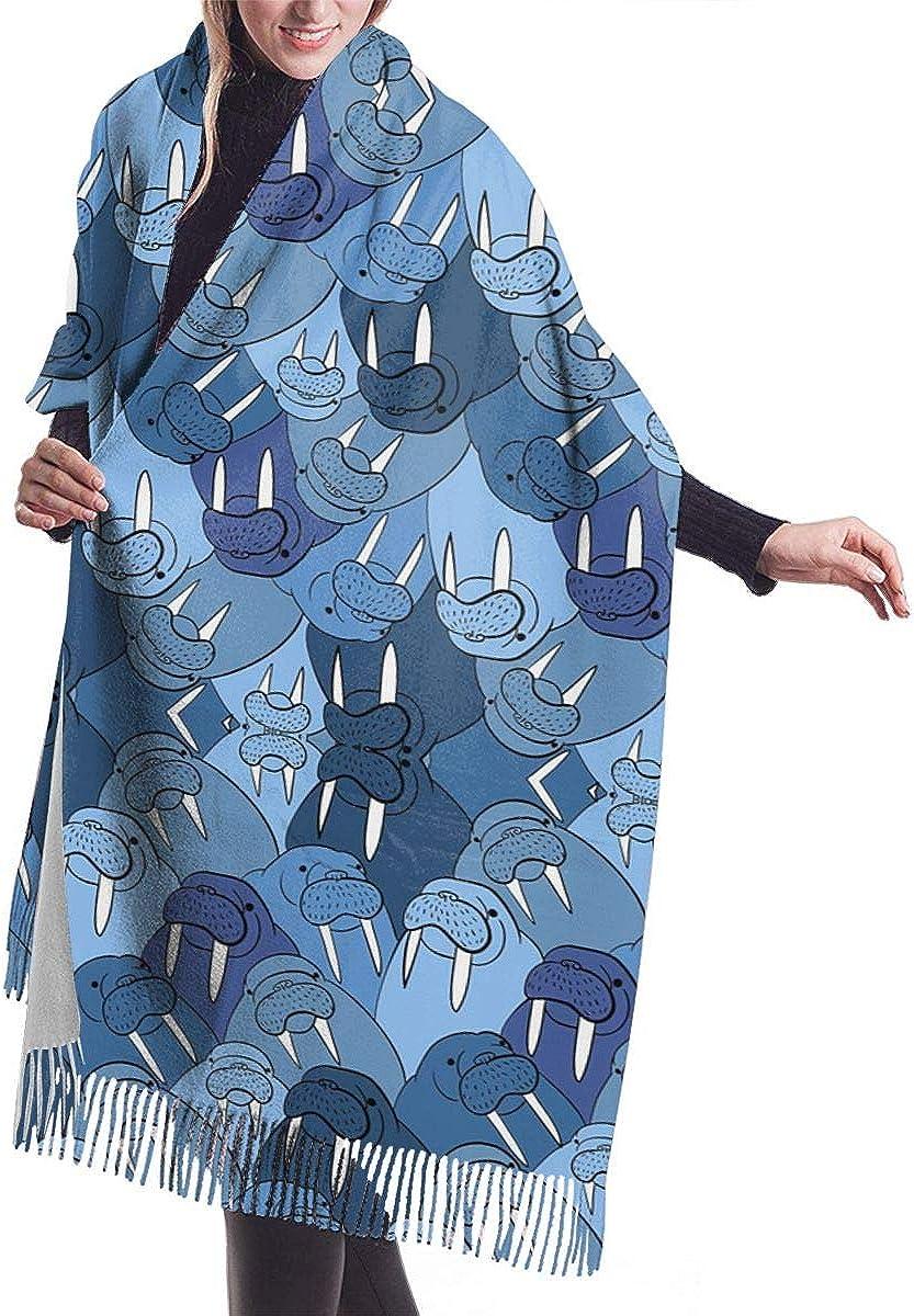 Cartoon Walrus Large Extra Soft Blanket Wrap Shawl Large Fashion Shawl Christmas Scarves 68196cm At Amazon Women S Clothing Store