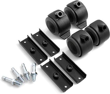 Ruedas universales para muebles con soporte en U ruedas protectoras para el suelo ruedas con tope ruedas de goma 4 unidades zapata con tornillo de rosca Design61 19 mm