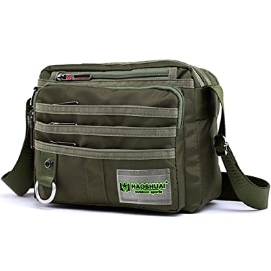 d12b785db1e5 JAKAGO Small Waterproof Messenger Bag Casual Shoulder Bag Multifunction  Travel Crossbody Bags Handbag Men s Satchel Bag