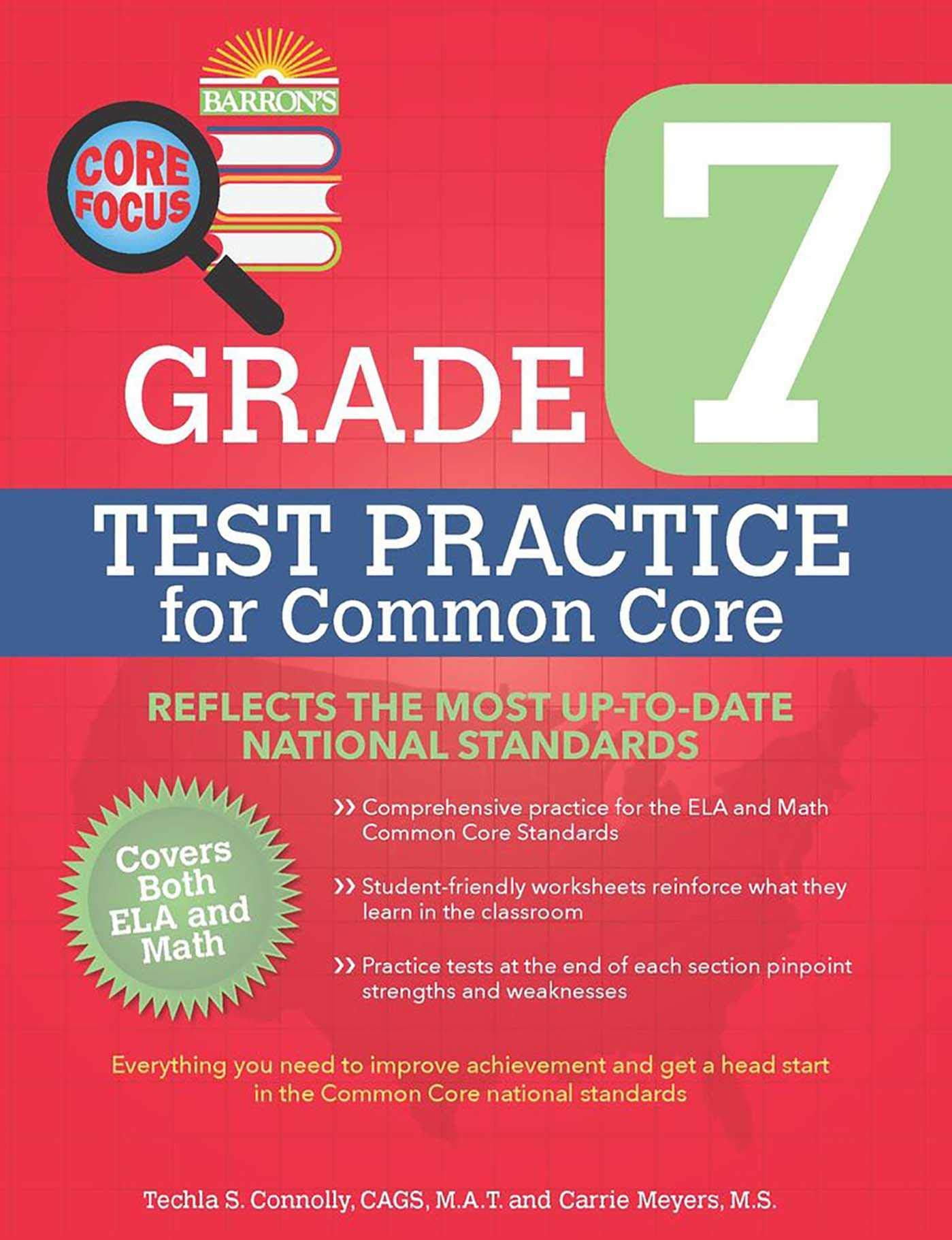 Barron's Core Focus: Grade 7 Test Practice for Common Core by Barron s Educational Series