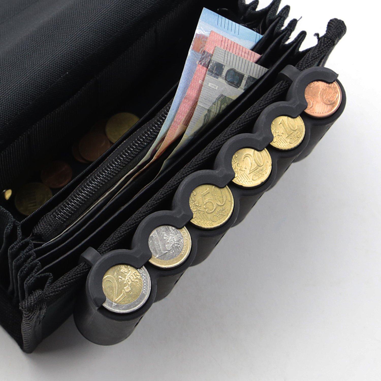 HMF 48821-02 Clasificador de monedas, Hucha, Euro, Tabla para monedas, 15,5 cm