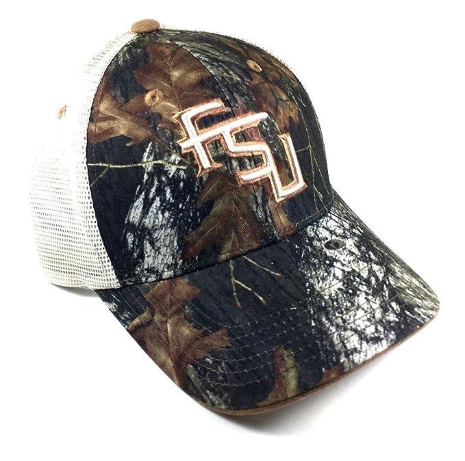 National Cap NCAA Audible Mossy Oak Mesh Trucker Snapback (FSU - Florida  State University - e5e2c63fb3f