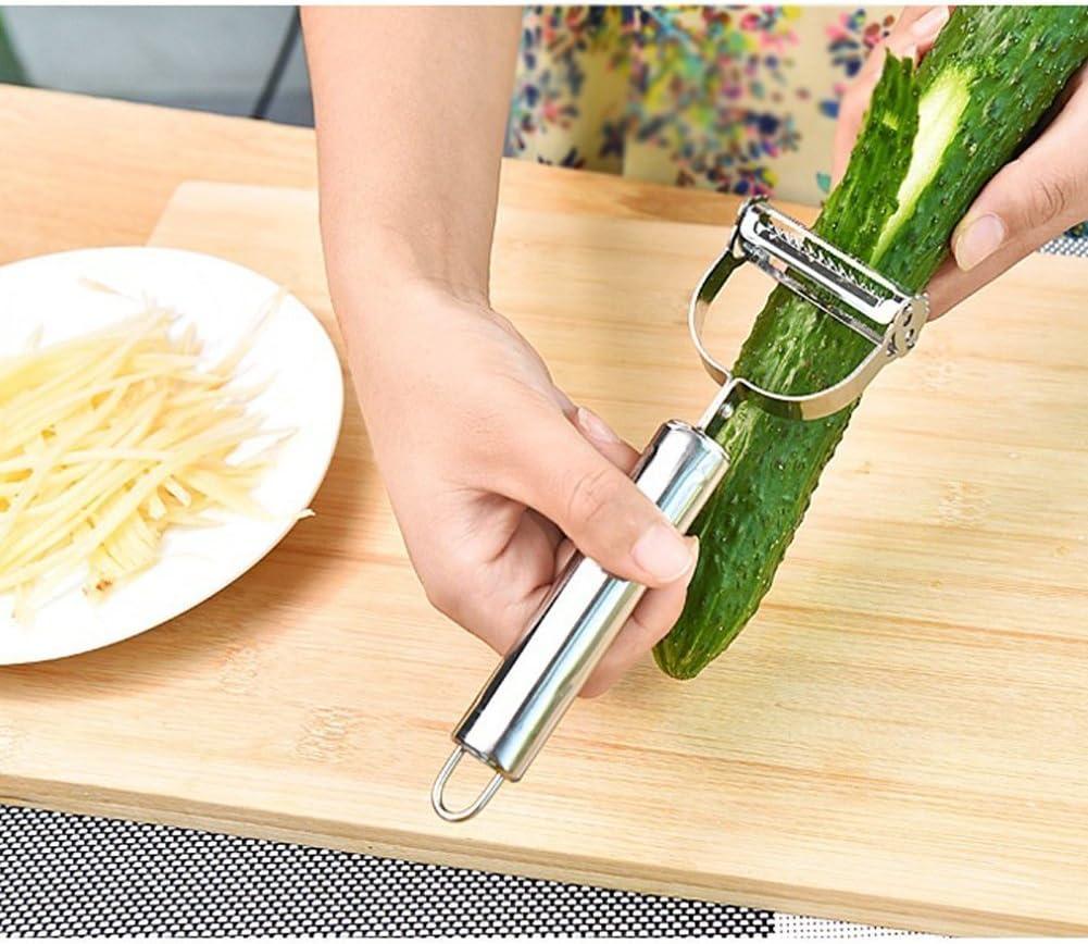 /Incroyable Outil pour Faire de d/élicieuses salades et l/égumes Nouilles ZZM Premium Ultra Sharp en Acier Inoxydable Double Julienne et l/égumes /Éplucheur trancheuse/