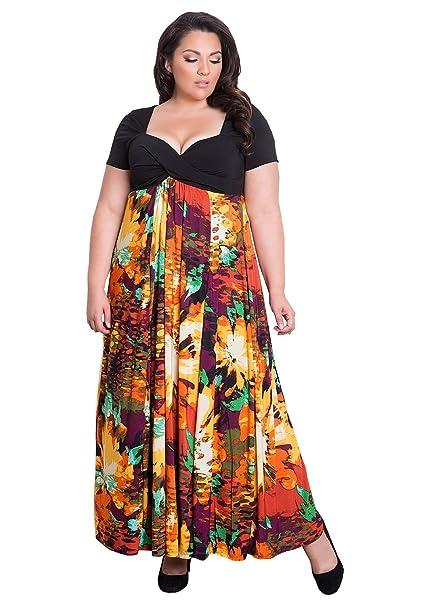 IGIGI Womens Plus Size Short Sleeve Full-Length Evening Maxi ...