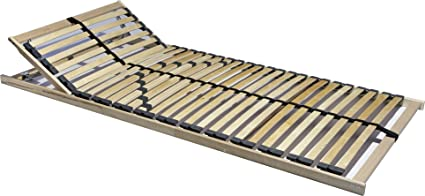 Lattenrahmen 7 Zonen Buche Birke verstellbar 90x200 Lattenrost Bettrost L1