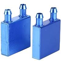 YaeKoo 2pcs Aluminum Water Cooling Block for CPU Graphics Radiator Heatsink 40 x 40mm