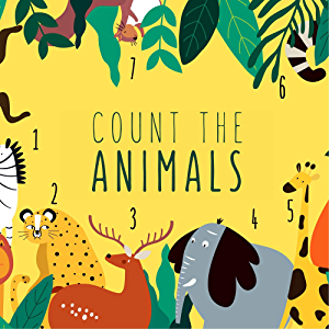 Count the Animals: A Fun Puzzle Book Gift for Kids, Boys or Girls.