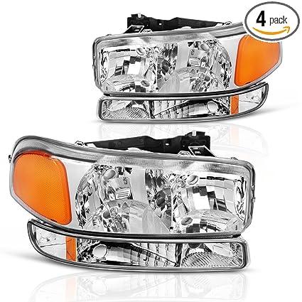 For 99 06 GMC Sierra 1500 2500 3500 00 Yukon Headlight