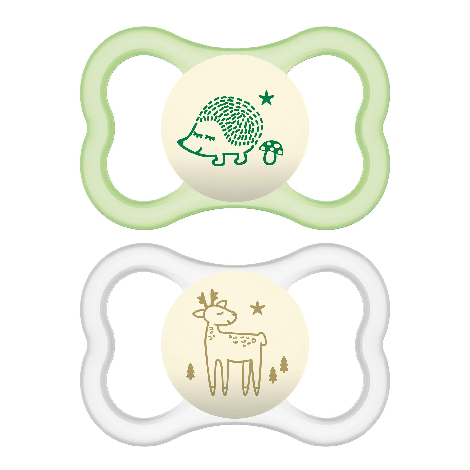 MAM Air Night Pacifiers (2 pack), MAM Sensitive Skin Pacifier 6+ Months, Glow in the Dark Pacifier, Best Pacifier for…