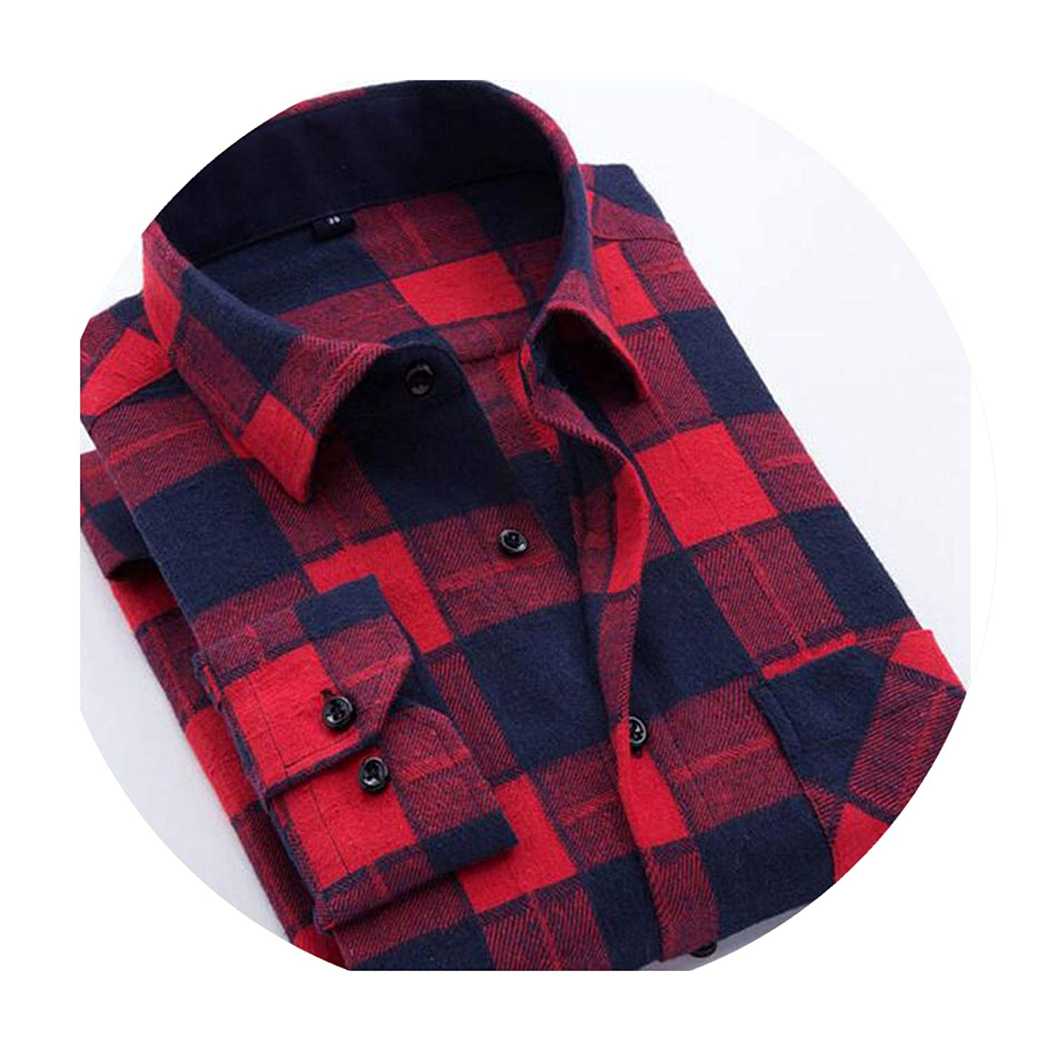 Classic Men Fashion Long Sleeve Plaid Grind Shirts Camisa Turn-Down Collar Breathable Cotton Shirts Tops