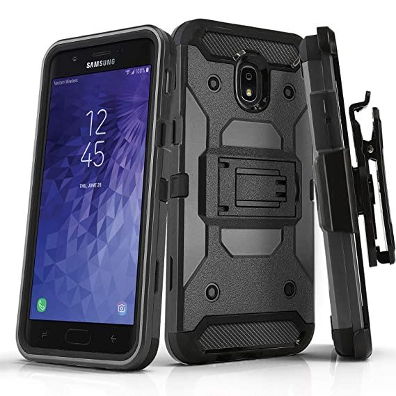 sports shoes c84cf 3c853 Phone Case for [Samsung Galaxy J7 Crown (S767VL)], [Tank Series][Gray]  Shockproof Cover with [Kickstand] & [Holster] for Galaxy J7 Crown  (Tracfone, ...