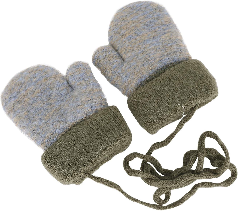 Kinder Handschuhe Winter Strickhandschuh Fausthandschuh Baby Cartoon Cubs F/äustlinge Halshandschuhe Warm Pl/üsch Gloves mit Schl/üsselband f/ür 0-3 Jahre M/ädchen Junge