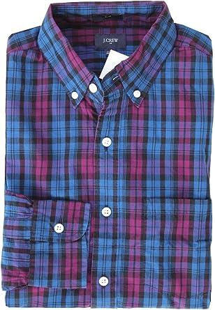 J.Crew Mercantile Mens Slim Fit Plaid Flex Washed Shirt