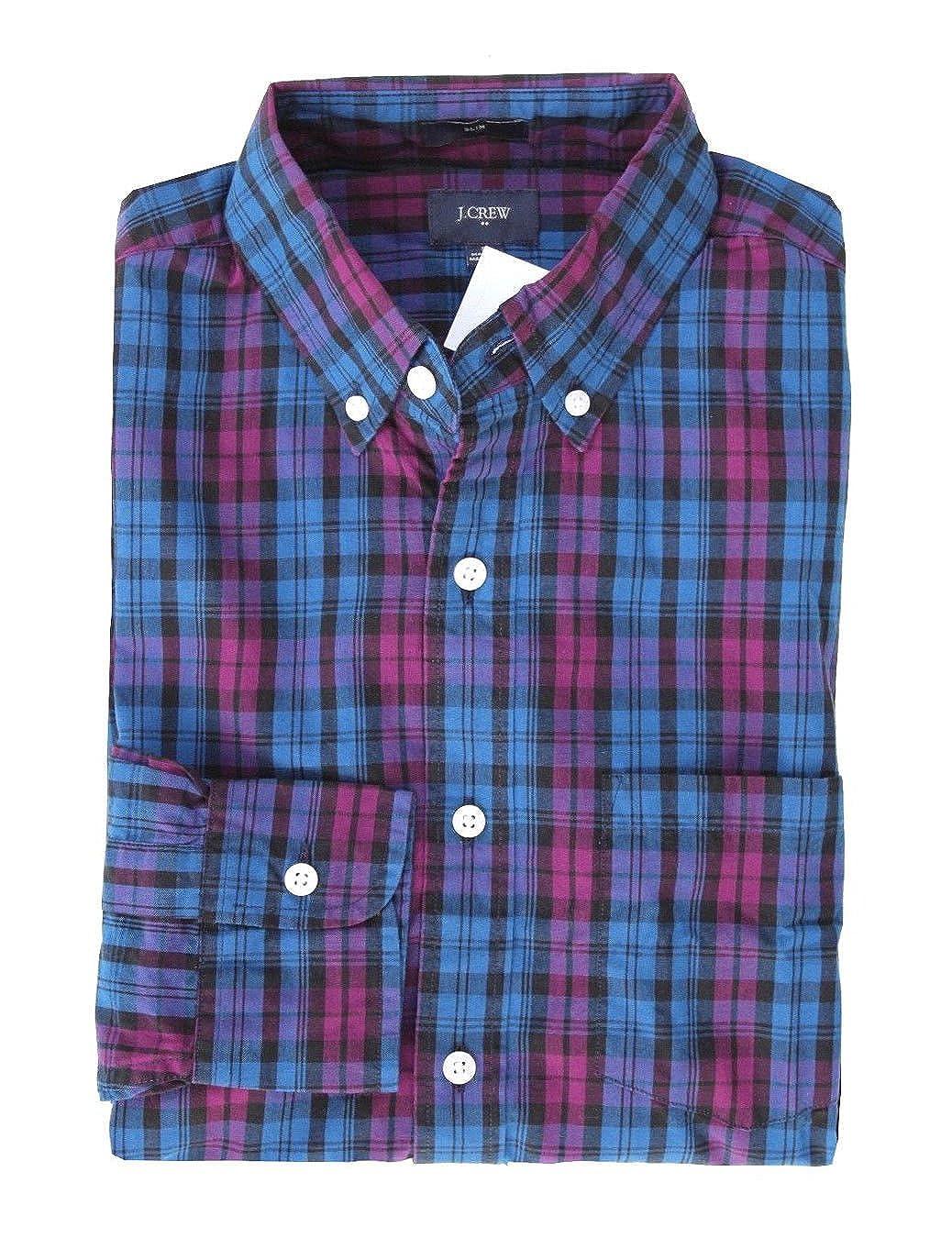 J Crew Factory Mens Slim Fit Gingham Washed Shirt