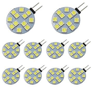 Ei Home 5050 12 Smd G4 Ampoules Led 12v Dc Ampoules Remplacer La Lampe Halogène G4 Led Spotlight Pour La Maison Paysage Voiture éclairage De La