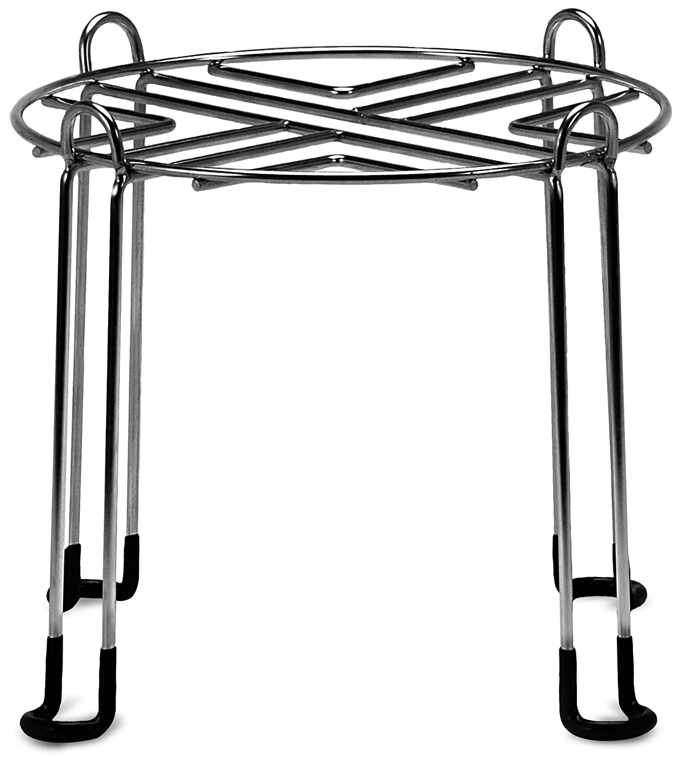 """IMPRESA Water Filter Stand 10"""" Tall by 9"""" Wide Compatible with Berkey, Countertop Steel Stand for Most Medium Gravity Fed Water Coolers - Quality Stainless Steel - Fills Glasses, Pitchers, Water"""