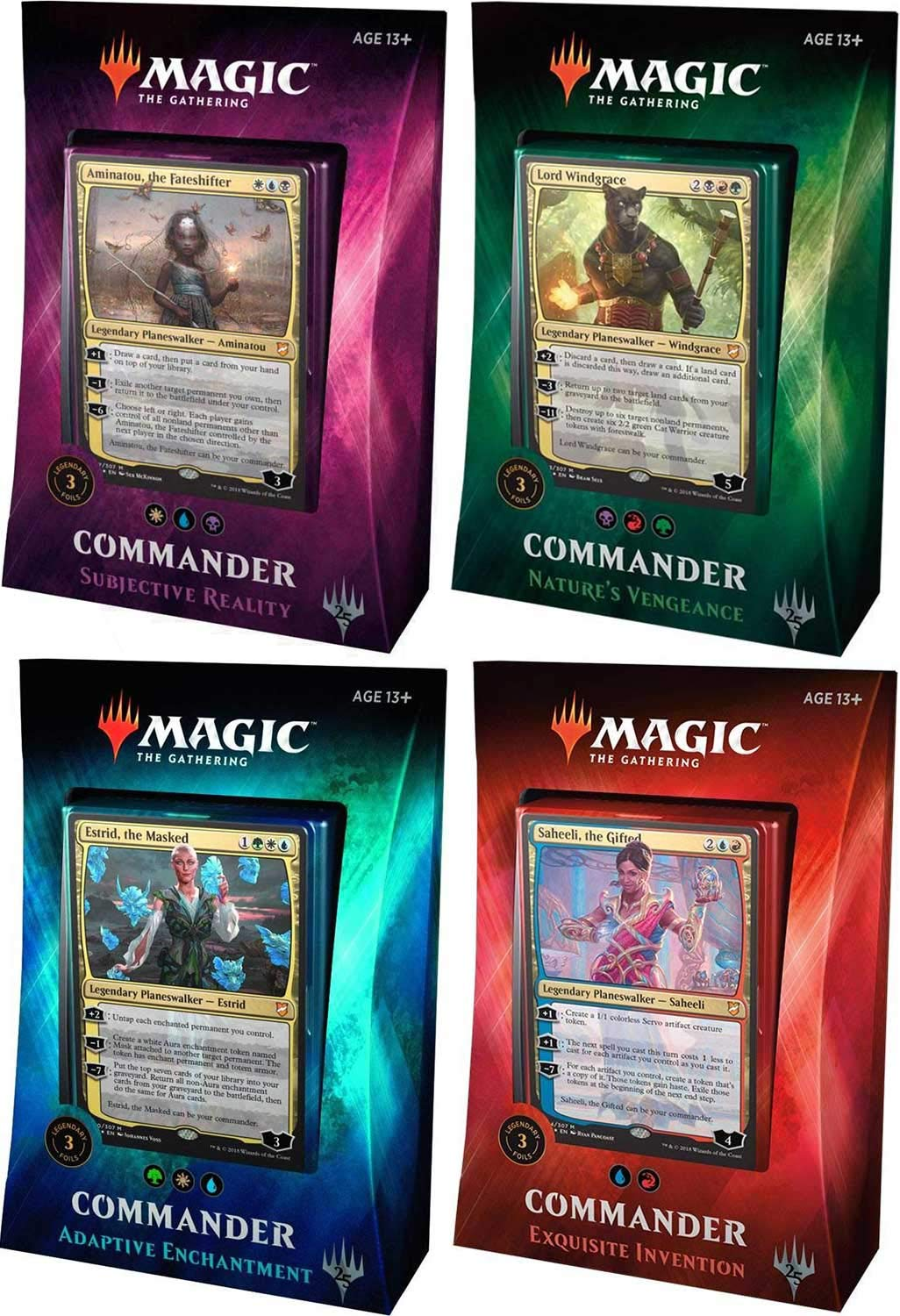 MTG Magic The Gathering 2018 Commander Set - All 4 Decks by Wizards of the Coast (Image #1)