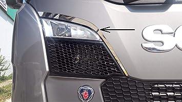 2 embellecedores de ventilación superior de acero inoxidable para Scania S Series 2016>