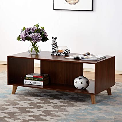 Amazon.com: Soges 47u0027 Coffee Table/Console Table/TV Stand Living Room  Entertainment Center Media Storage Console Premium Living Room Furniture,  ...