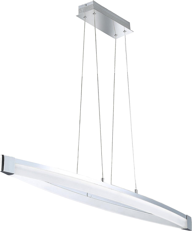 Wofi Vannes 7625.01.01.0000 - Lámpara de techo con 1 foco (1 x LED, 40 W, 14,5 x 127 x 150 cm, 3000 Kelvin, 2600 lúmenes, acabado cromado): Amazon.es: Iluminación