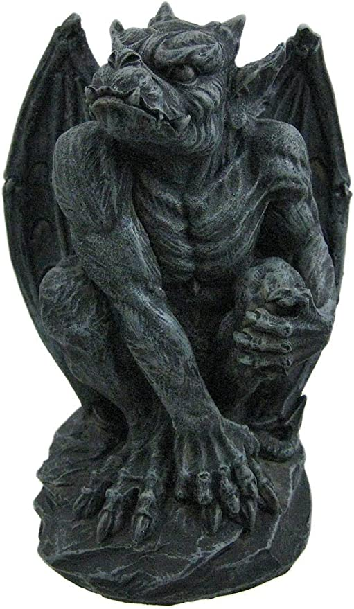 PTC 6.25 Inch Resin Medieval Sitting Guardian Gargoyle with Wings Statue