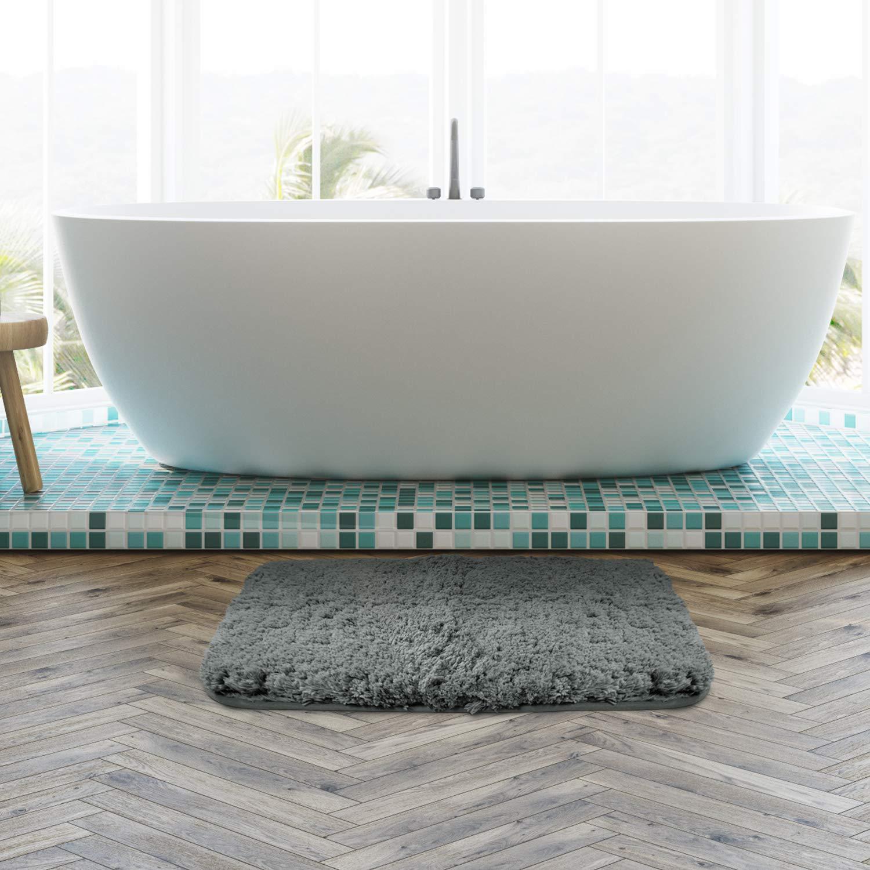 Grey LFLF233364GY Lifewit 59x20 Bath Runner Rug Long Soft Shaggy Non-Slip Bathroom Floor Mat Microfiber Water Absorbent