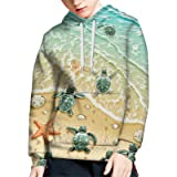 WELLFLYHOM Unisex Sweater Kids 3D Print Graphic Pullover Hoodie Sweatshirts with Pocket for Age 6-16