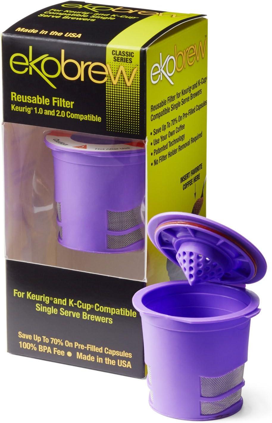 Ekobrew Classic Reusable Filter, Keurig 1.0 und 2.0 Compatible - Violet