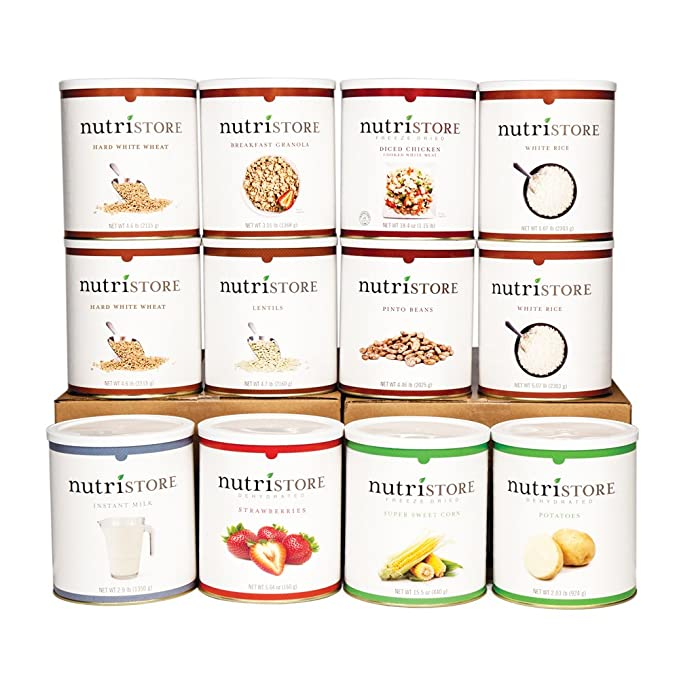 Nutristore Long-Term Food Supply | Survival Food | Customizable Meals | Great Tasting | 25 Year Shelf Life | Emergency Preparedness | High in Calories and Servings