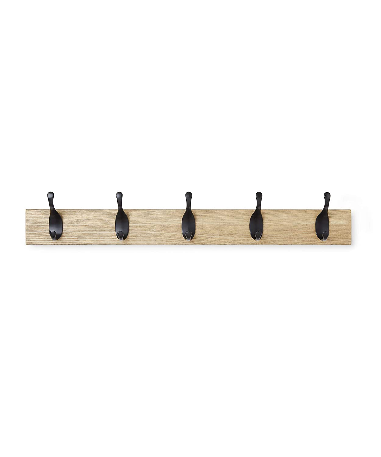 AmazonBasics - Perchero de pared, 5 ganchos modernos ...
