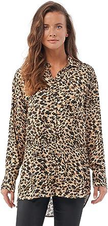Salsa Camisa fit Regular con Estampado Leopardo: Amazon.es: Ropa y accesorios