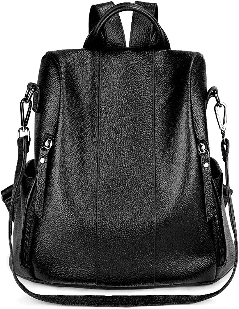 SUVOM Genuine Leather Backpack for Women Anti-theft Rucksack Ladies Shoulder Bag