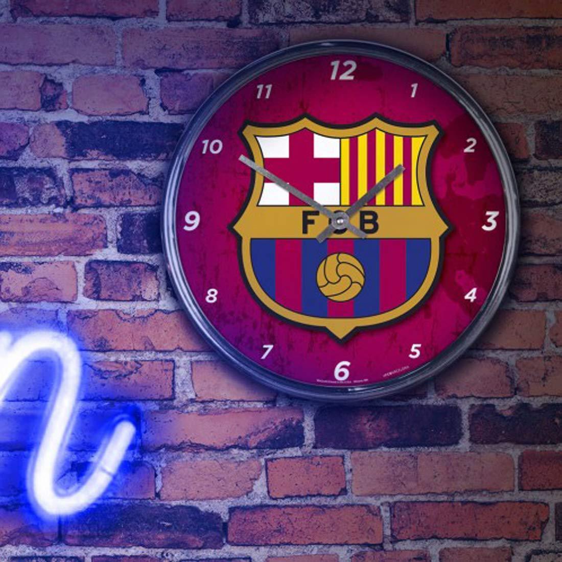 Wincraft International Soccer FC Barcelona Wall Clock Chrome Plated 12 Round