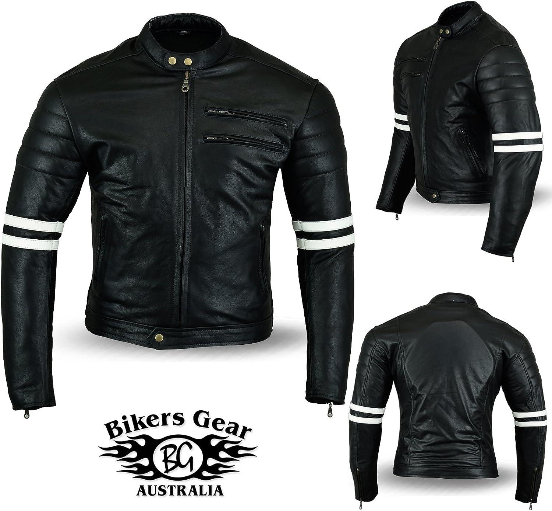 Bikers Gear UK Mens Motorcycle Jacket