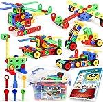 163 Piece STEM Toys Kit, Educational Construction Engineering Building Blocks Learning