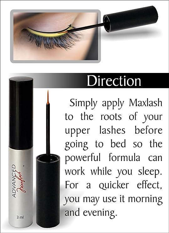 Maxlash Natural Eyelash Growth Serum - El original - 100% natural ...