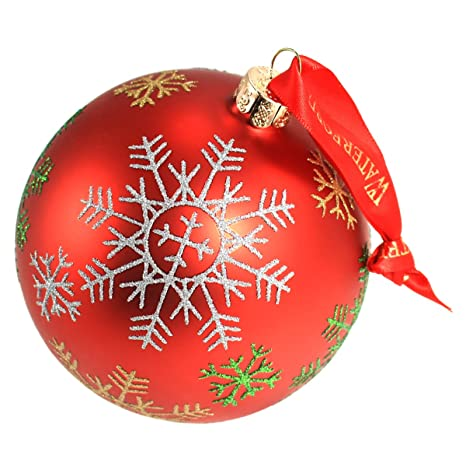 Waterford Christmas Ornaments.Waterford Holiday Heirloom Snowflake Ball Ornament