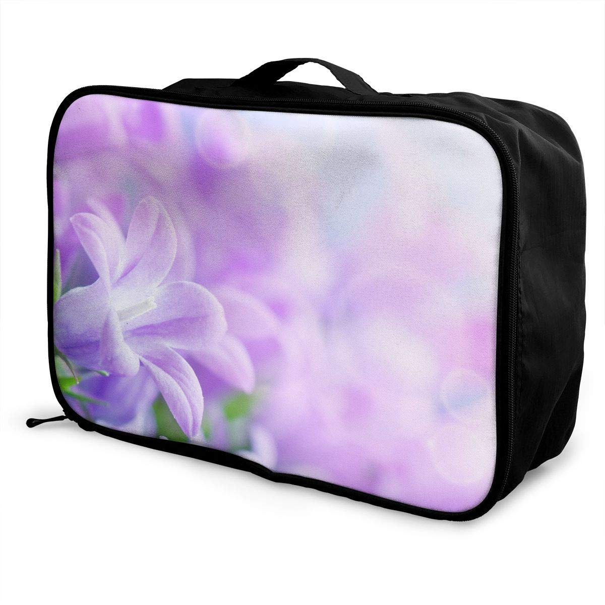 Travel Luggage Duffle Bag Lightweight Portable Handbag Lavender Flowers Print Large Capacity Waterproof Foldable Storage Tote