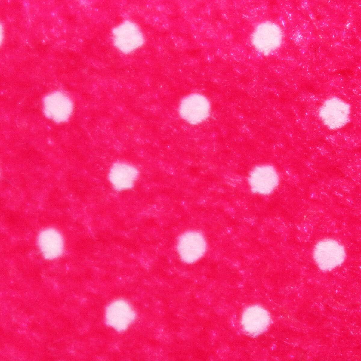 Russo Tessuti Tessuto Pannolenci Panno Lenci Fantasia Pois Punto Spillo Bianco 50 x 85 cm New-1.Rosa Confetto