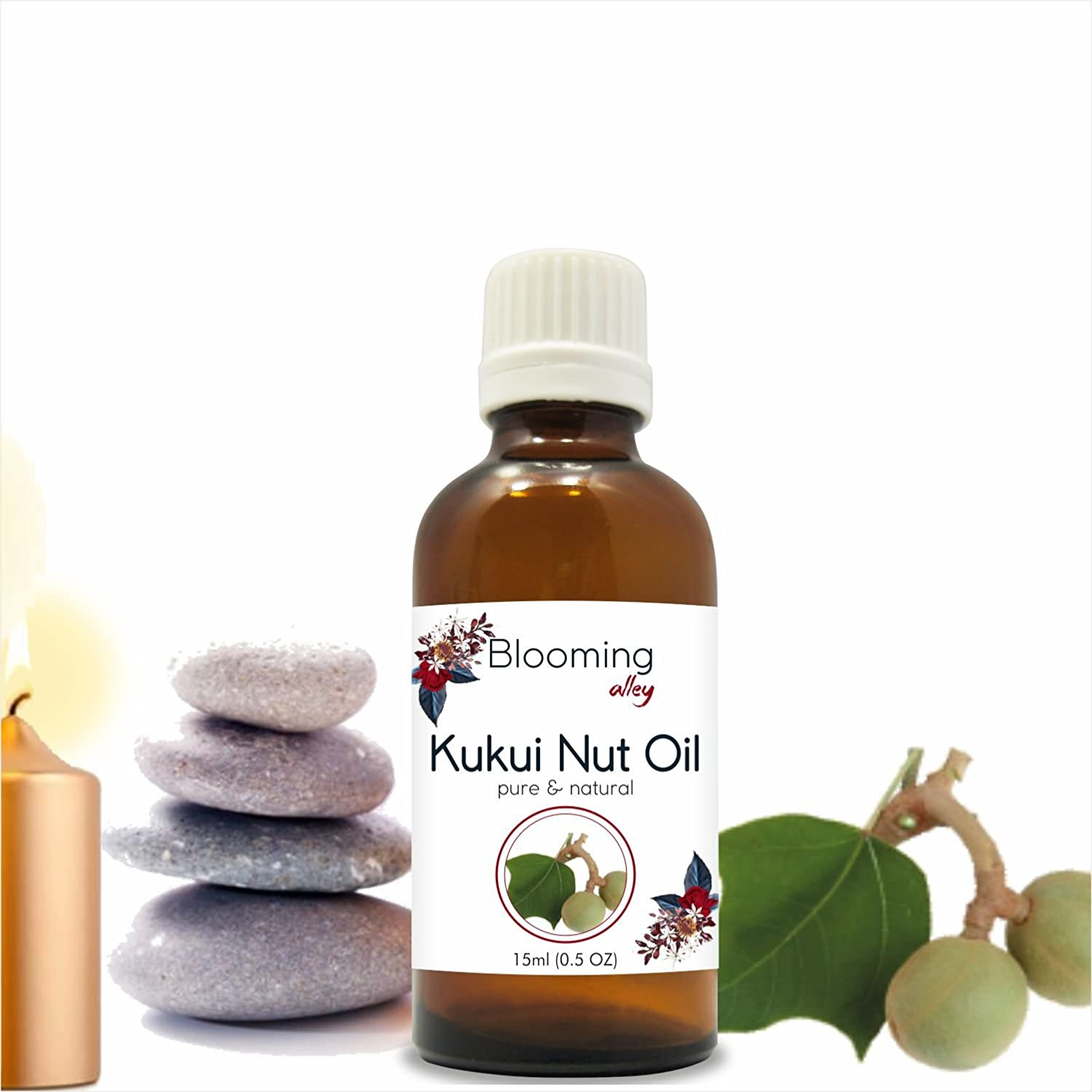 KUKUI NUT OIL (Aleurites Moluccans) Carrier Oil By Blooming Alley (5 ml) (100ml) Salvia Pharmaceuticals