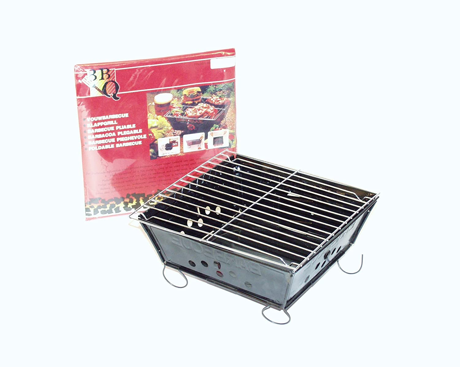 CAMP-GEAR 8108145 25 x 25 cm Collapsible BBQ barbecue Envelope - Black No label