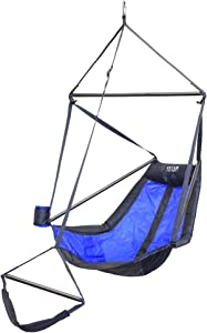 ENO, Eagles Nest Outfitters Lounger Hanging Chair, Royal/Charcoal