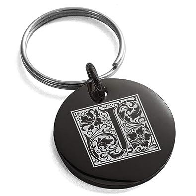 Amazon.com: Tioneer - Llavero de acero inoxidable con letra ...