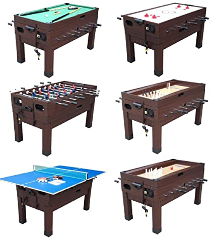 Amazoncom 13 In 1 Combination Game Table In Espresso By Berner
