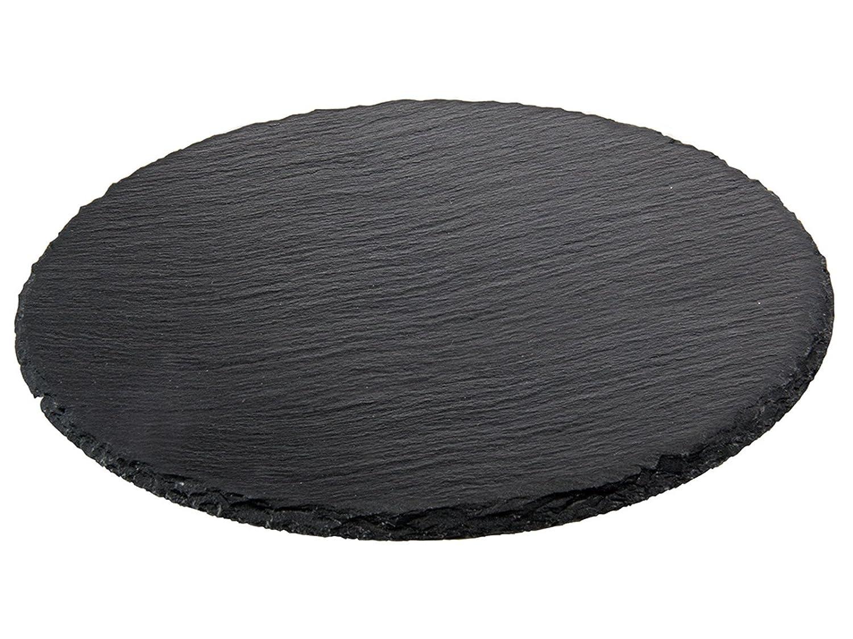 Ilsa Naturschiefertablett Schieferplatte rund 26 cm Durchmesser