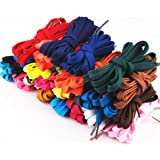 PIXNOR–12pares de cordones planos, cordones de repuesto para zapatillas deportivas (colores surtidos)