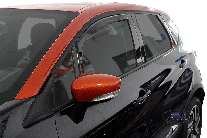 Deflecteurs dair d/éflecteurs de Vent Compatible avec Renault Captur 2013-pr/és 2 pi/èces J/&J AUTOMOTIVE